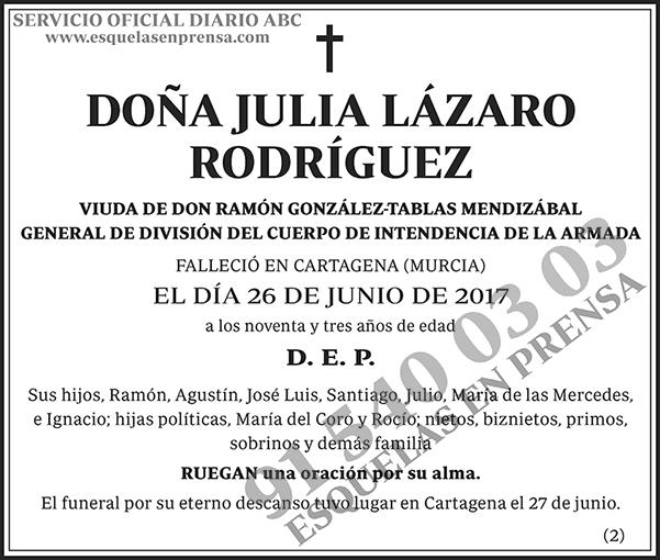 Julia Lázaro Rodríguez